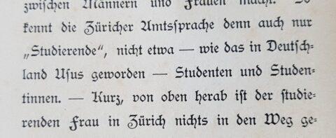 Ein Ausschnitt aus einem Text von 1896, der den Gebrauch des Worts