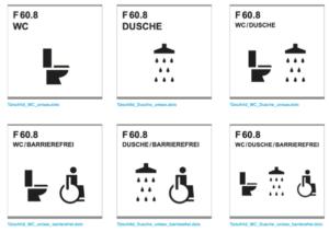 neue Signaletik ETH geschlechtneutrale Duschen und Toiletten